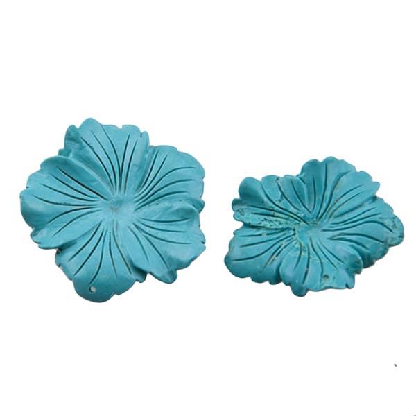 Magnesit Blumenanhänger blau-0