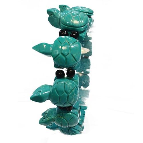 Bambuskorallen Schildkröten Armband Orange-1536