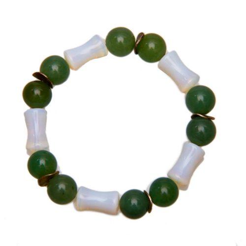 Design Steine Armband grün-michweiß-0