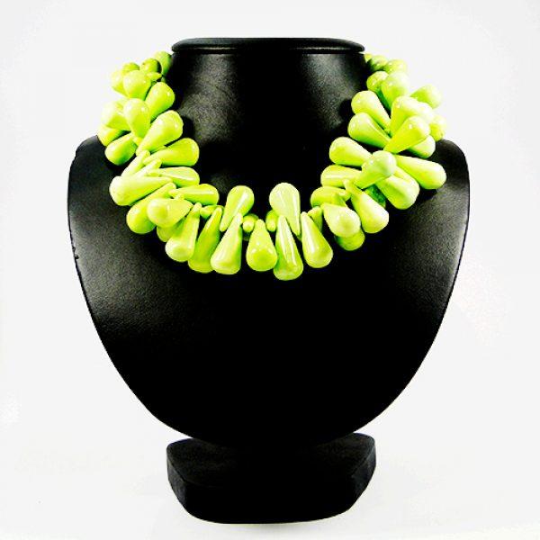 Stein Kette leuchtes grün-0
