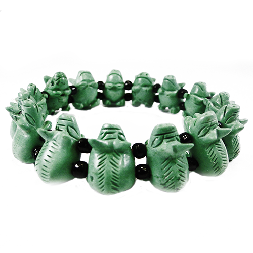 Glückschwein Armband grün-0