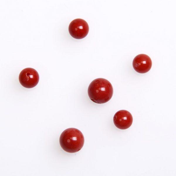Naturkorallen Kugel in 6mm. rot-0