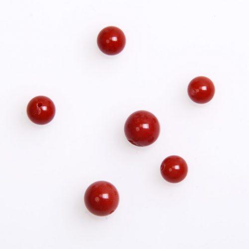 Naturkorallen Kugel in 8mm-rot-0