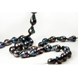 Süswasser perlen barock in schwarz-grau-0