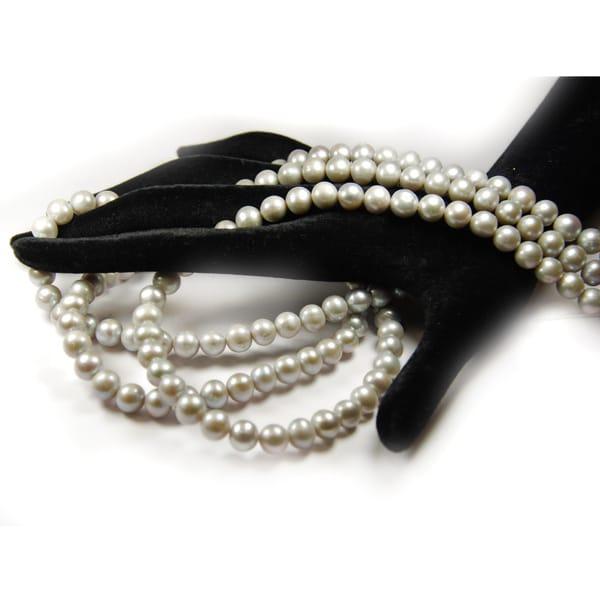 Süsswasser Perlen in 8mm.grau-1802