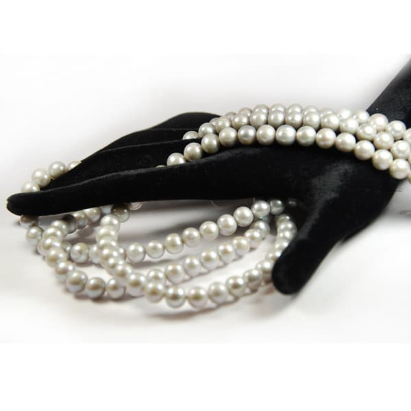 Süsswasser Perlen in 8mm.grau-1803