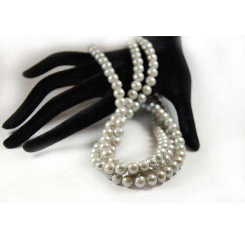 Süsswasser Perlen in 8mm.grau-0