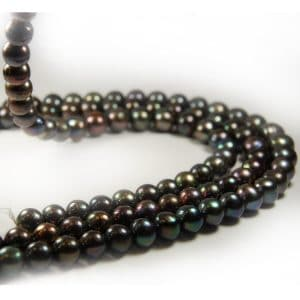 freshwater pearl string 12mm in darksilvergray-0