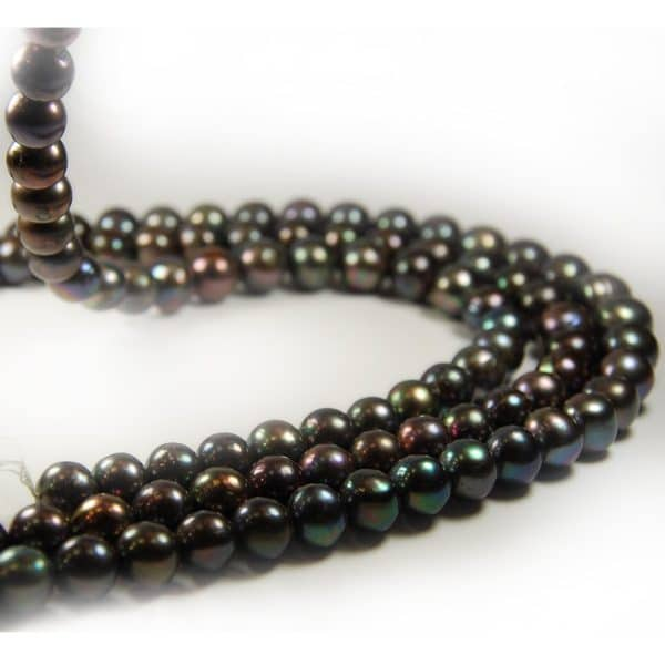 Süsswasser Perlen in 12mm in dunkelsilbergrau-0
