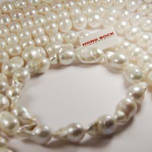 Süsswasser perlen Barockin weiß-0