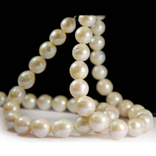 Süsswasser Perlen Strang nugget in weiß-1799