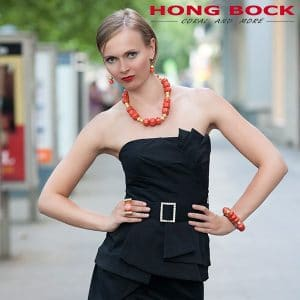 HONG BOCK-Design Kette Koralle in lacks und gold-0