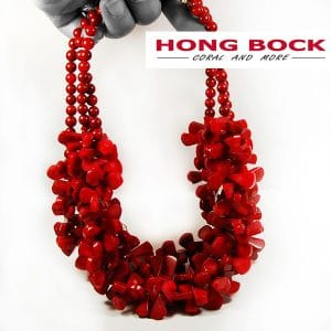 HONG BOCK-Design Kette aus Bambuskoralle rot.-0