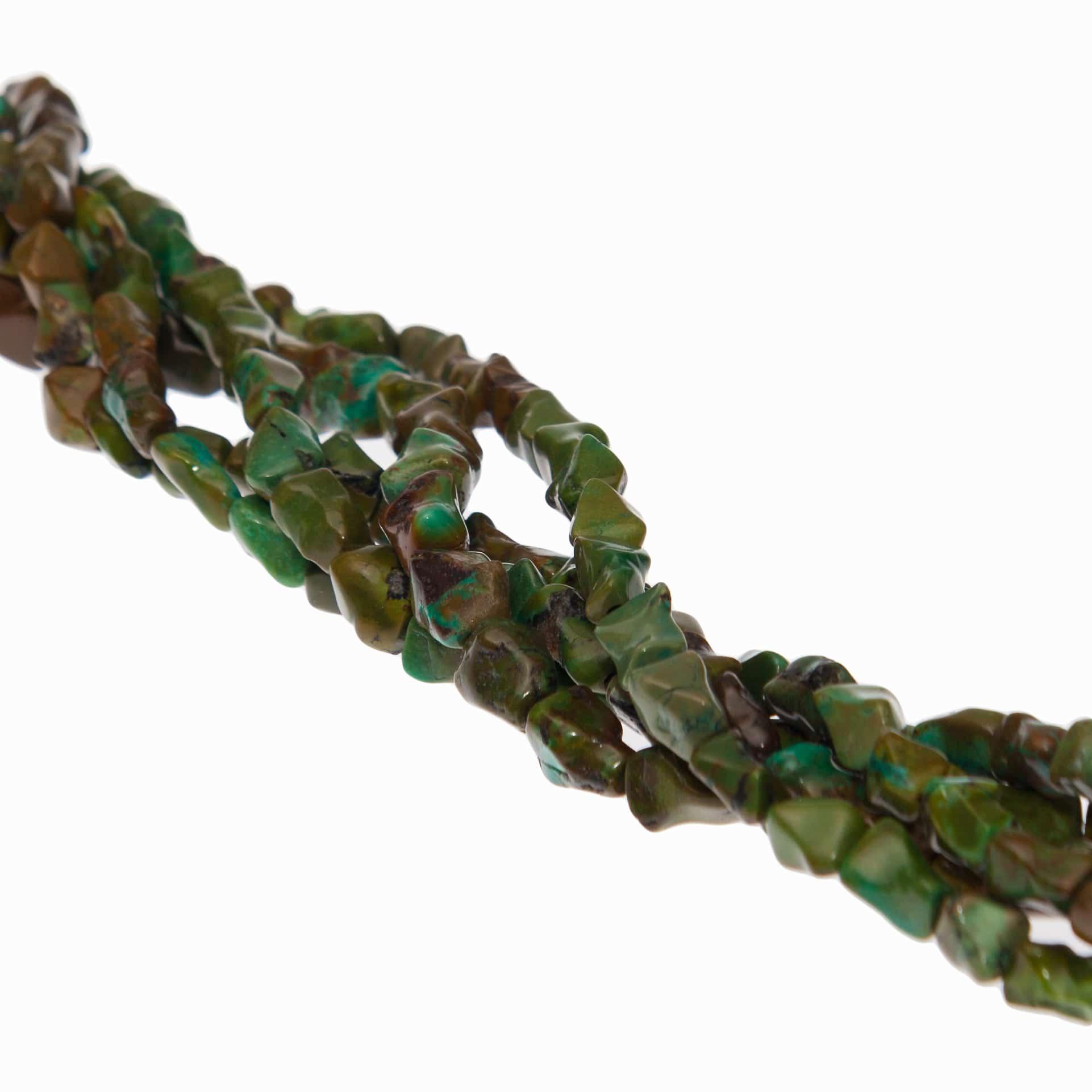 Türkis Nugget grün in 8x10mm-1912