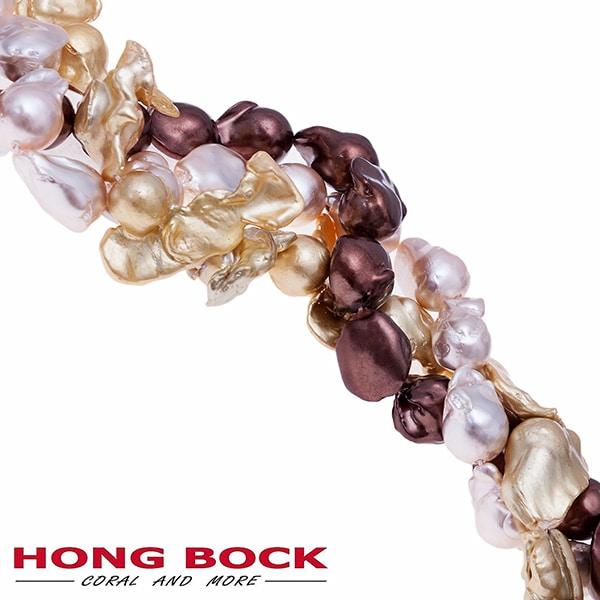 Süßwasser Perlen Kette in Barock-1989