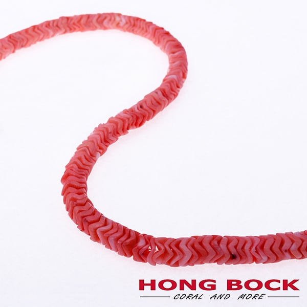 Bambuskorallen pink strang in 12mm-1984