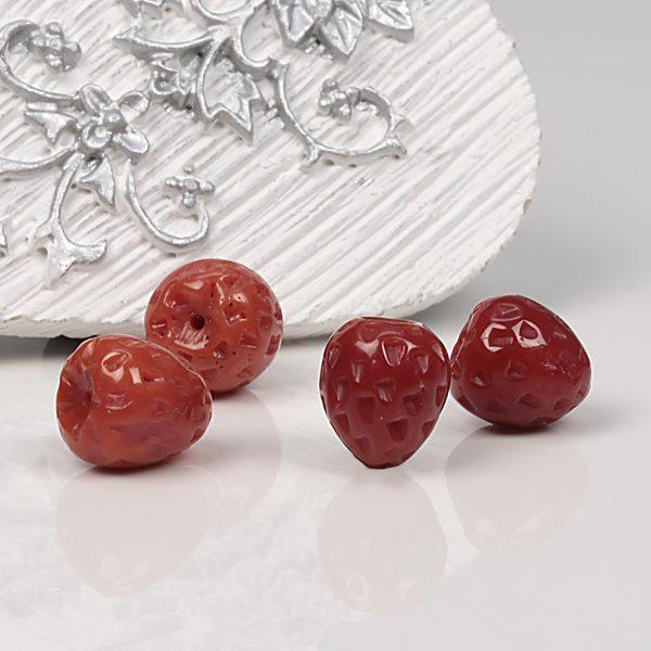 Naturkorallen Erdbeere in 10mm rot-0