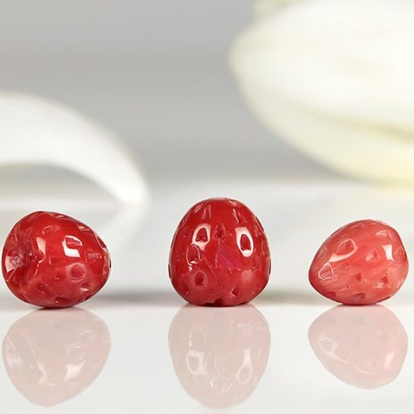Naturkorallen Erdbeere in 8mm rot-0