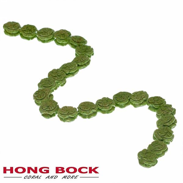 Magnesit Blumen Strang grün in 14mm-2072