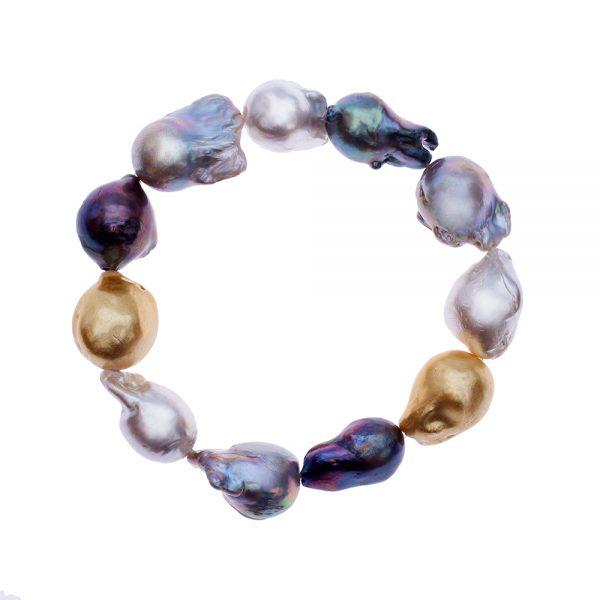 HONG BOCK-Süsswasser Perlen Barocke Armband in Mutiecolour -0