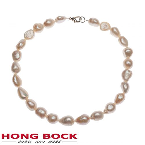 Süsswasser Perlen kette Barocke in 10x15mm weiß-0