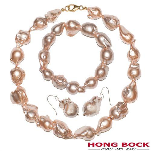 HONG BOCK-Barock Perle Set in champagnien farben-0