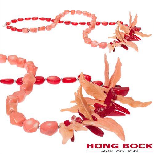 HONG BOCK-Design - Korallenkette in rot und pink-0