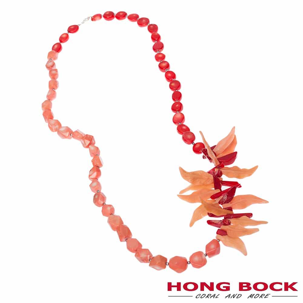HONG BOCK-Design - Korallenkette in rot und pink-2273