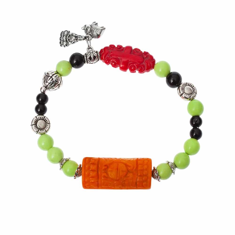 HONG BOCK-Design Armband von Bambuskorallen und schwarze Onyx-2260