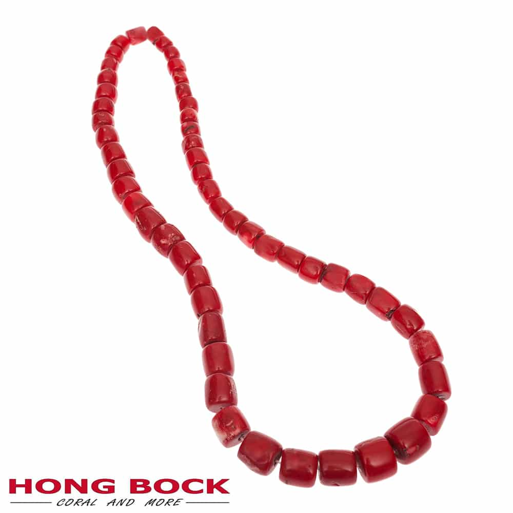 rote Buddha kette aus Bambuskorallen in 80cm lang Verlaufen-0