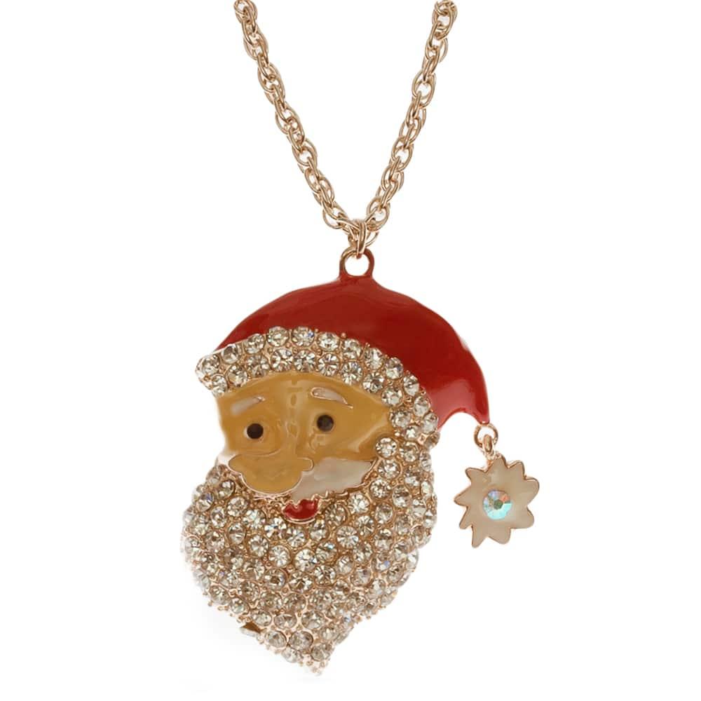 Weihnachtsmann kette aus Messing in 80cm lang-2356