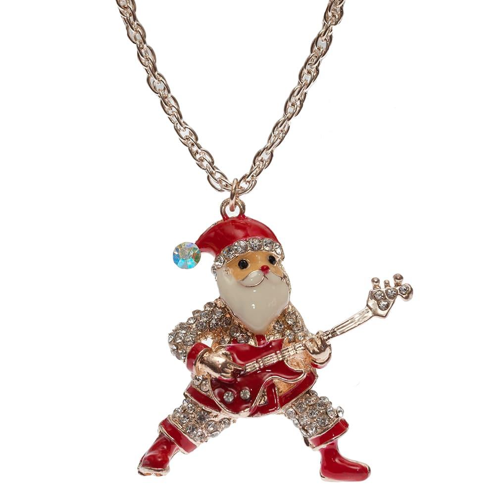 Weihnachtsmann Rockroll kette aus Messing in 80cm lang-0