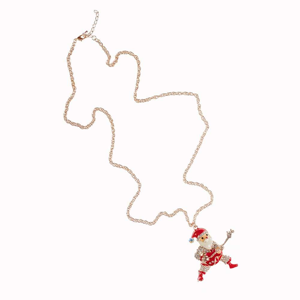 Weihnachtsmann Rockroll kette aus Messing in 80cm lang-2363