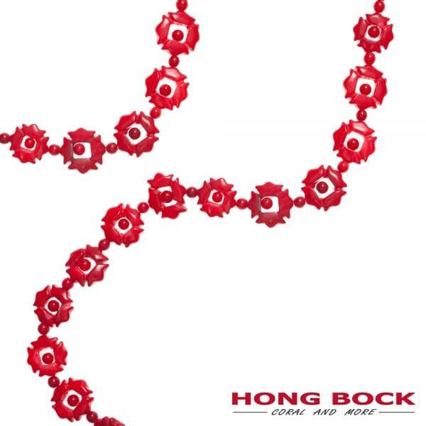 HONG BOCK-Bambuskorallen geschnitz in rot-0
