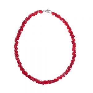 HONG BOCK-rote korallen Rosen kette-0