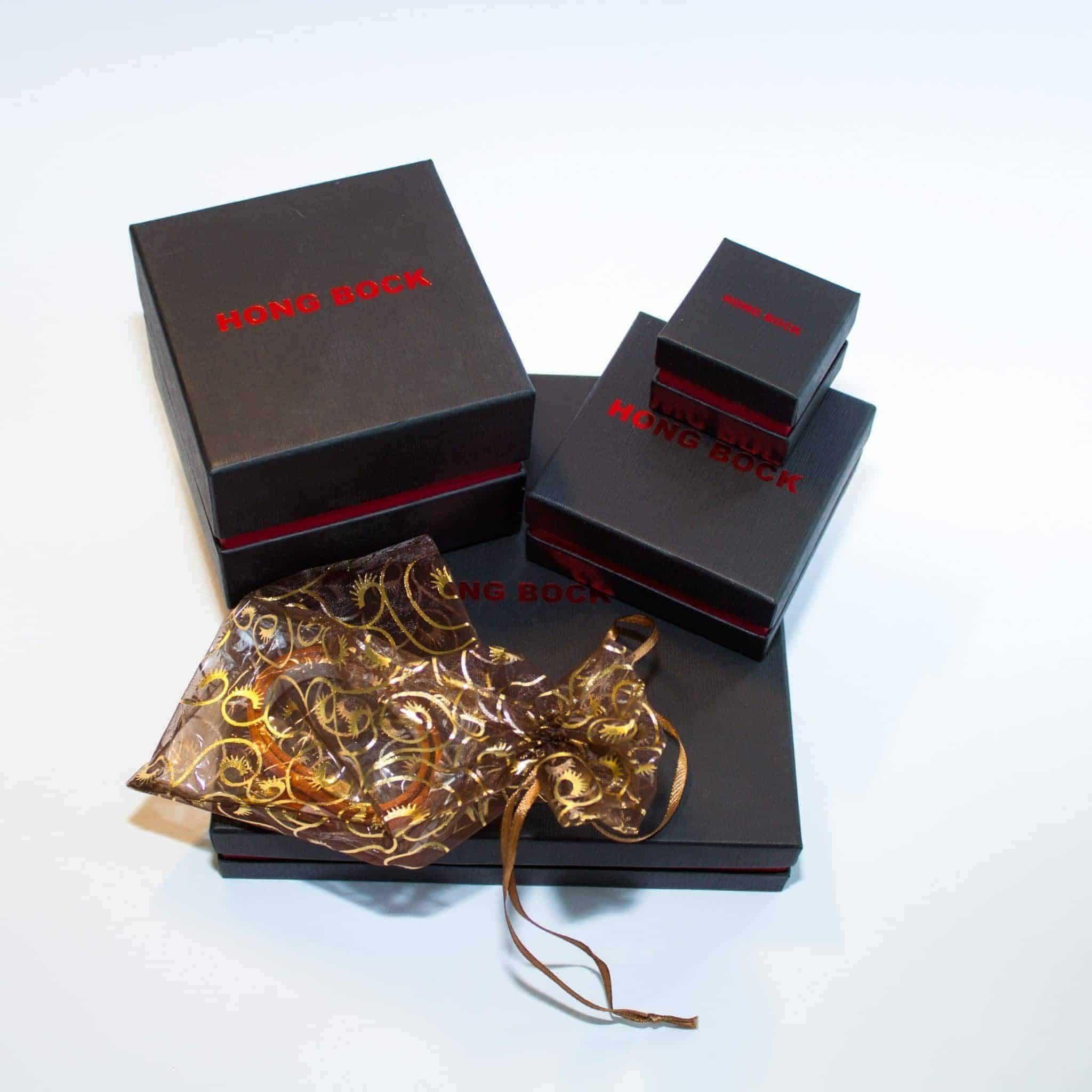HONG BOCK-Design - Ensemble bestehend aus 2 reihiger Süßwasser-Barockperlenkette und Armband in weiß, dunkelgrau und gold-2459